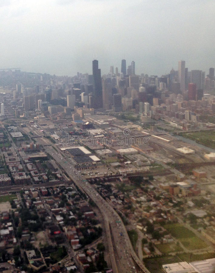 byggnader chicago illinois arkivfoto