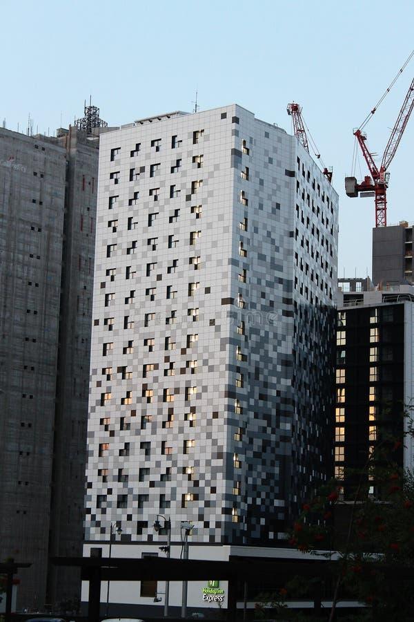 Byggnader för Birmingham brevlådakanal 2018 royaltyfri bild