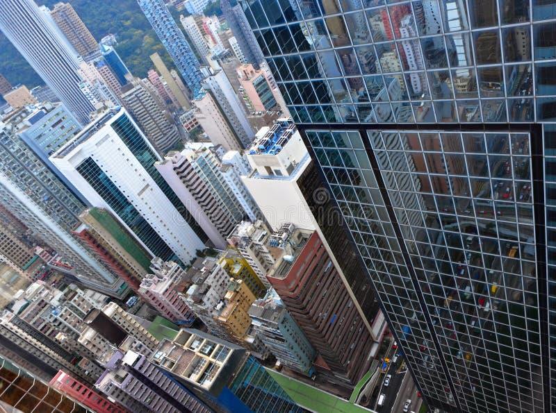 byggnader fullsatt Hong Kong royaltyfri fotografi
