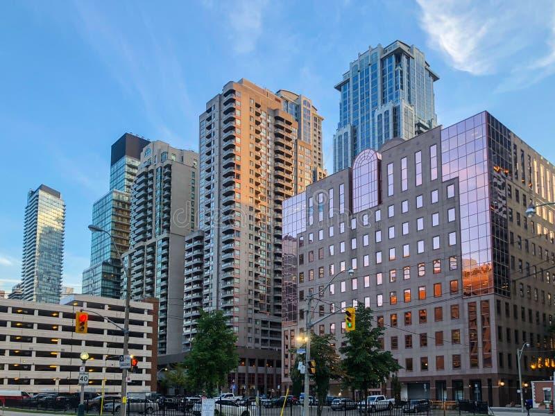 Byggnader i centrala Toronto, Kanada arkivbild