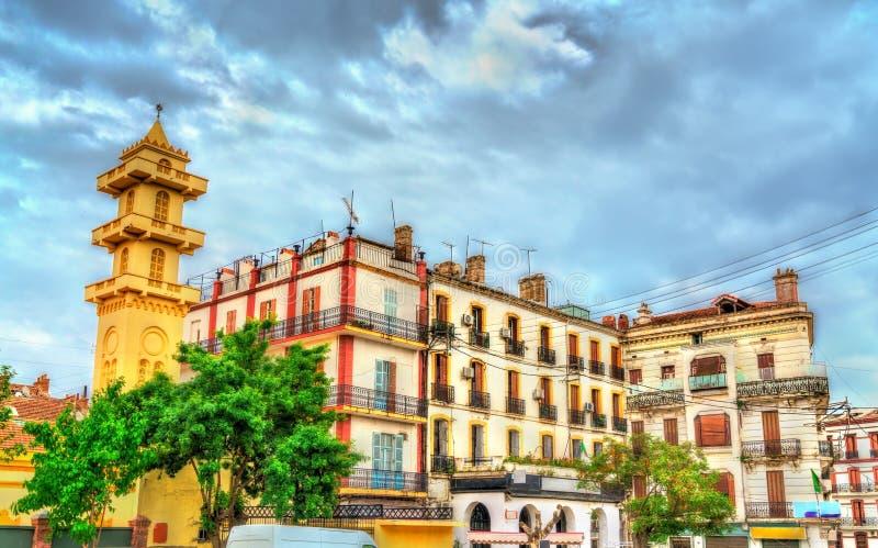 Byggnader i den gamla staden av Constantine, Algeriet royaltyfri foto