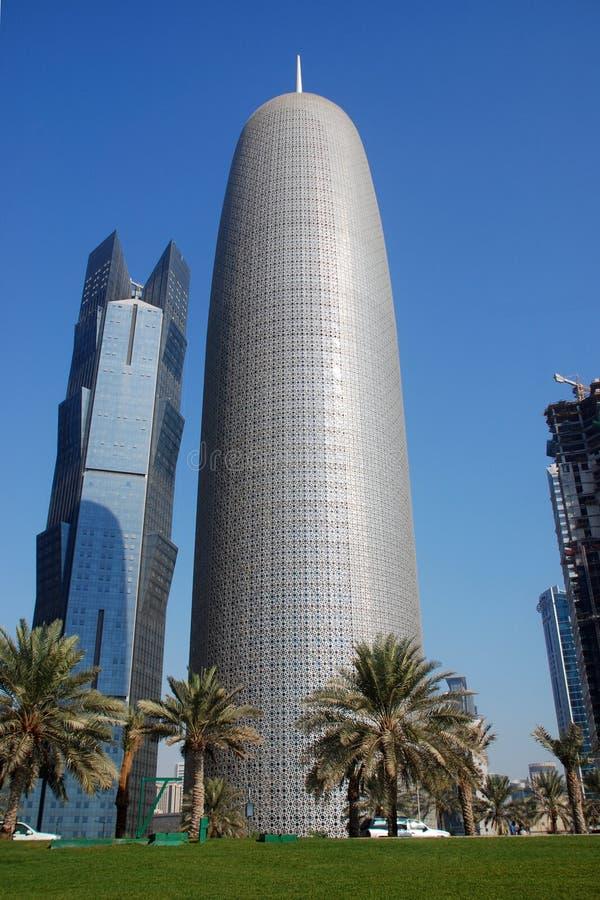 Byggnader i Doha royaltyfri fotografi