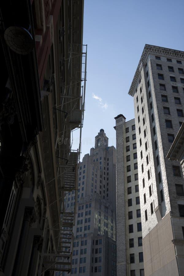 Byggnader i i stadens centrum försyn, RI fotografering för bildbyråer