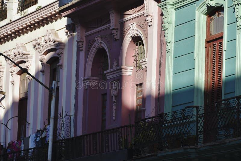 Byggnader i Lahavannacigarren, Kuba fotografering för bildbyråer