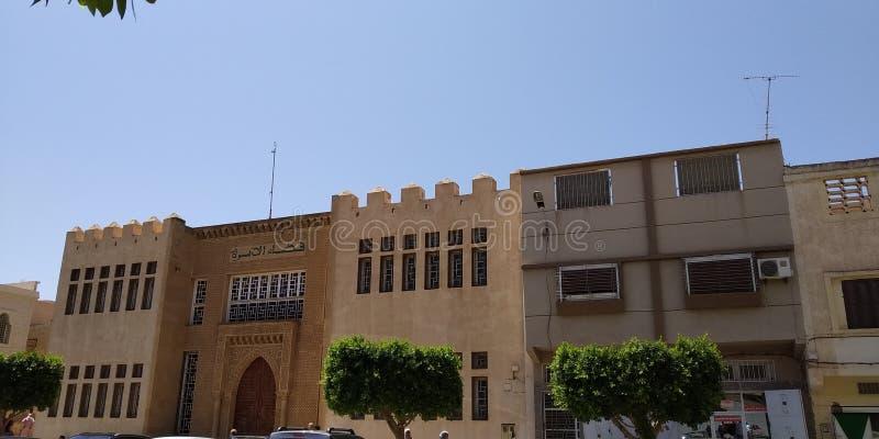 Byggnader i Oujda Marocko fotografering för bildbyråer