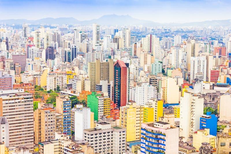 Byggnader i Sao Paulo, Brasilien arkivbild
