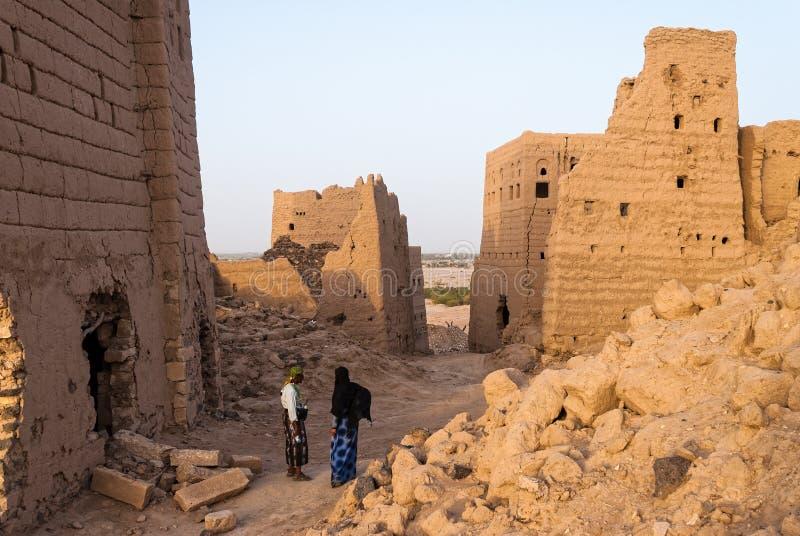 Byggnader i Yemen royaltyfri foto
