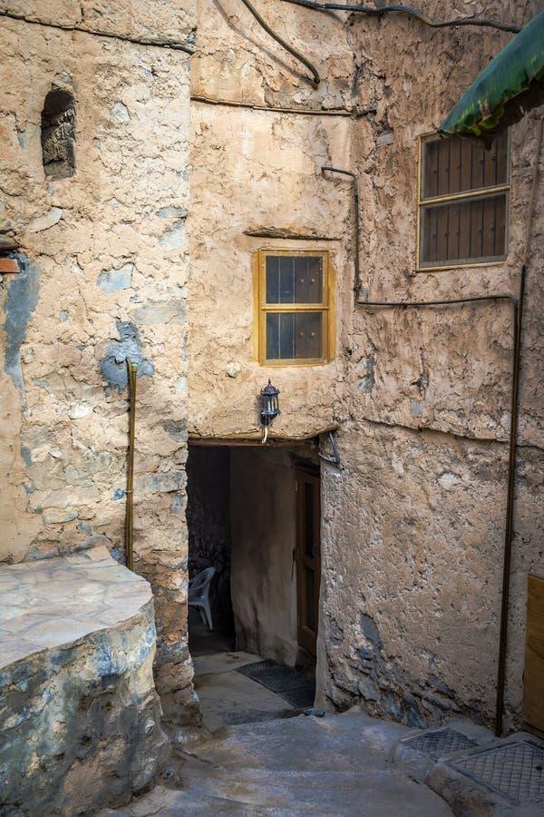Byggnader Misfah Abreyeen arkivbilder