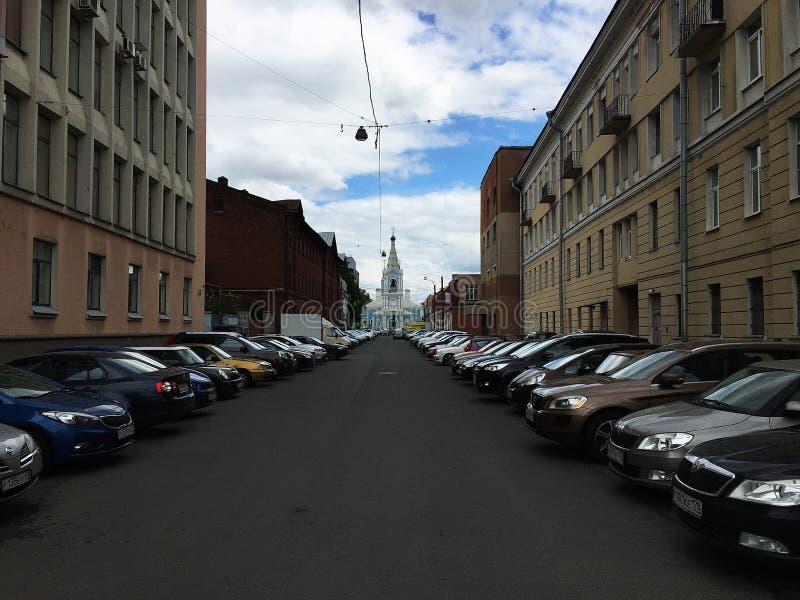Byggnader och arkitektur av St Petersburg, Ryssland Storartade byggnader och forntida arkitektur av den härliga staden, fotografering för bildbyråer