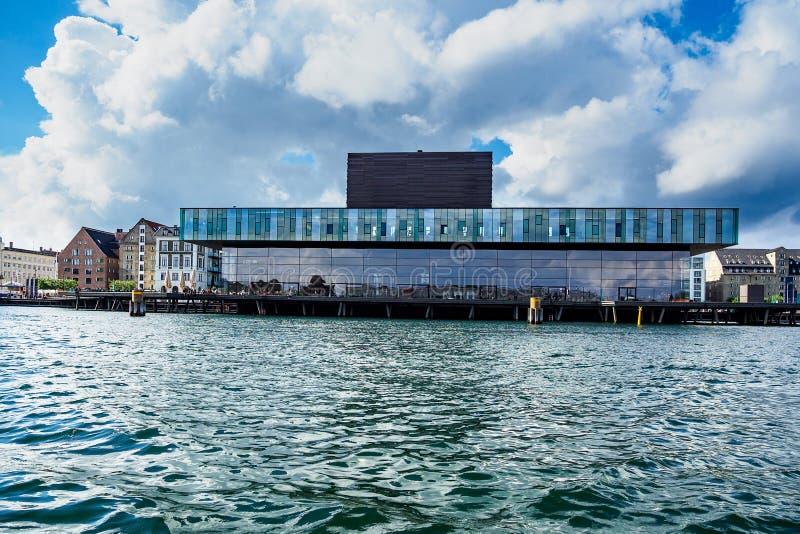 Byggnader och lekstuga i stadsKöpenhamnen, Danmark arkivfoto