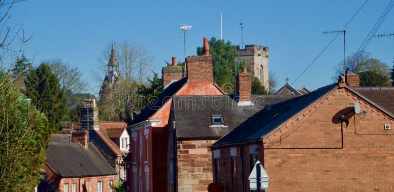 Byggnader på Alton royaltyfria foton