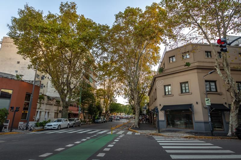 Byggnader på Palermo Soho - Buenos Aires, Argentina arkivbilder