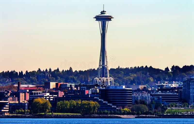 Byggnader Washington för Seattle tornCityscape fotografering för bildbyråer