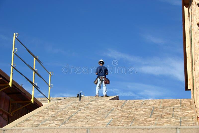 byggnadsarbetare fotografering för bildbyråer