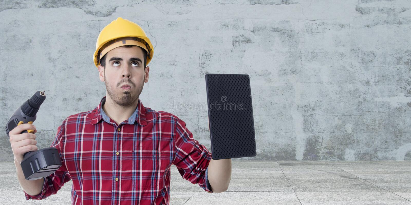 Byggnadsarbetare Man arkivbilder
