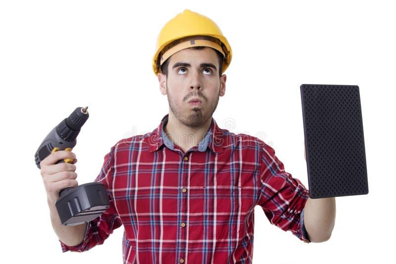 Byggnadsarbetare Man royaltyfri bild