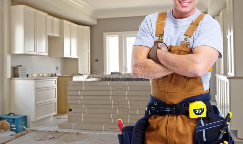 Byggnadsarbetarehänder royaltyfria foton