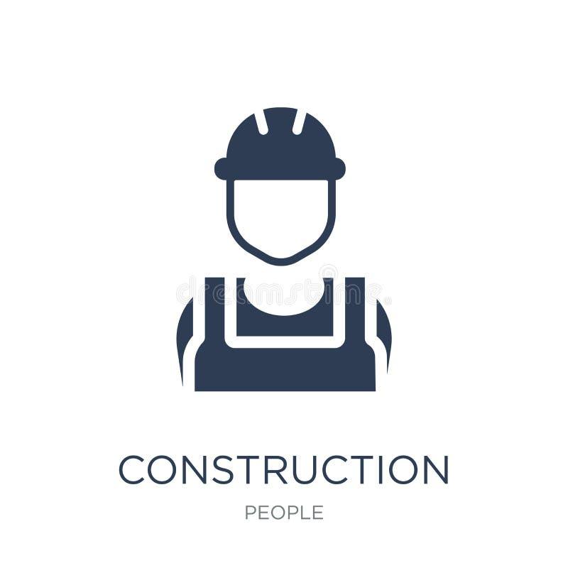 Byggnadsarbetaresymbol  royaltyfri illustrationer
