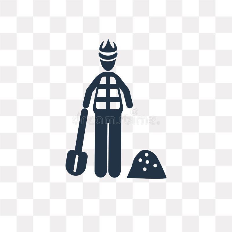 Byggnadsarbetarevektorsymbol som isoleras på genomskinlig backgrou royaltyfri illustrationer