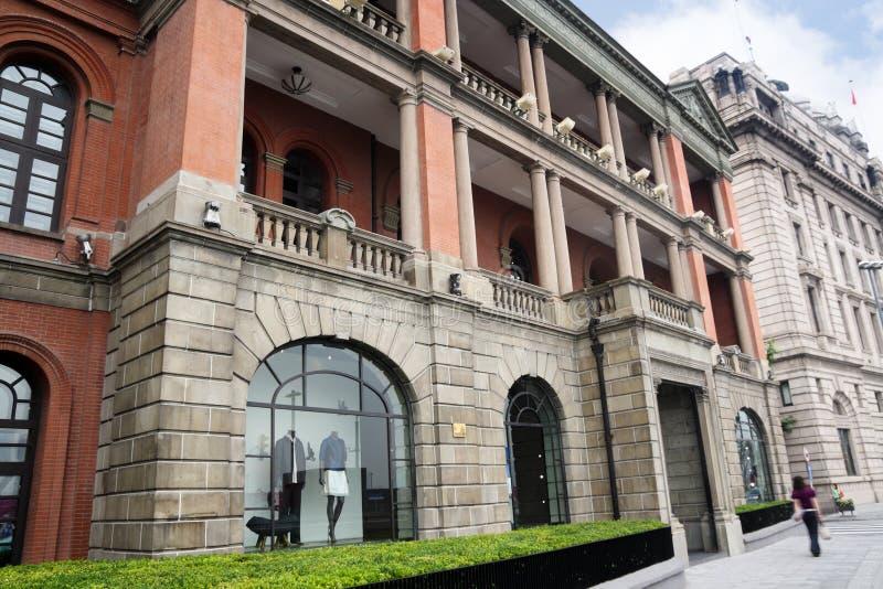 byggnadsbund gammala shanghai royaltyfri fotografi