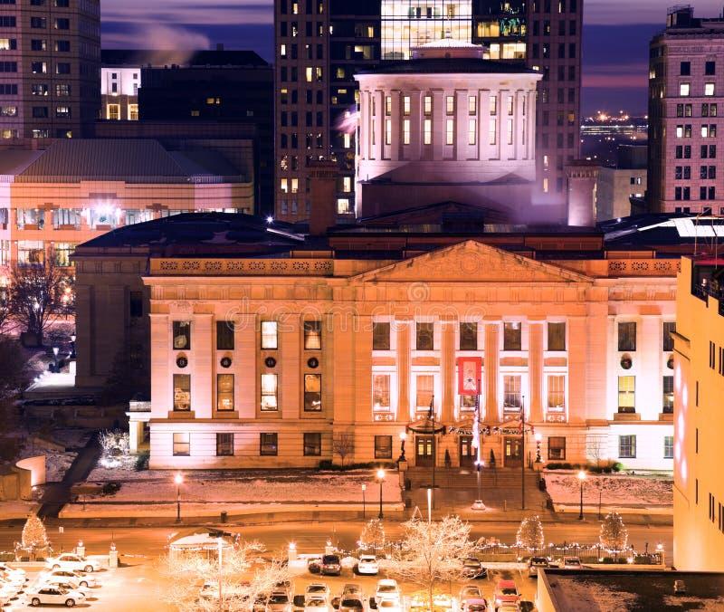 byggnadscapitolcolumbus ohio tillstånd royaltyfria bilder