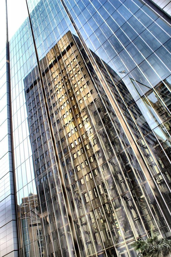 byggnadsexponeringsglas arkivfoto