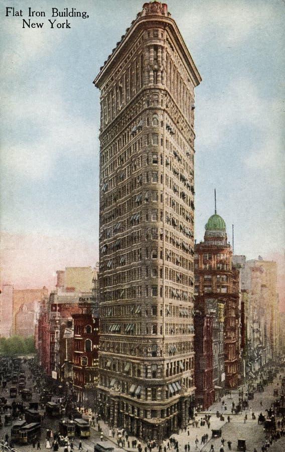 byggnadsflatiron New York arkivfoto
