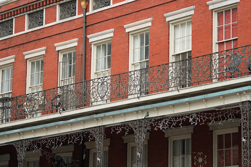byggnadsframsida New Orleans arkivbild