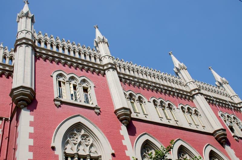 Byggnadshögsta domstolen Calcutta Indien royaltyfri fotografi