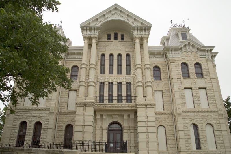 ByggnadsHill County domstolsbyggnad i TX arkivfoto