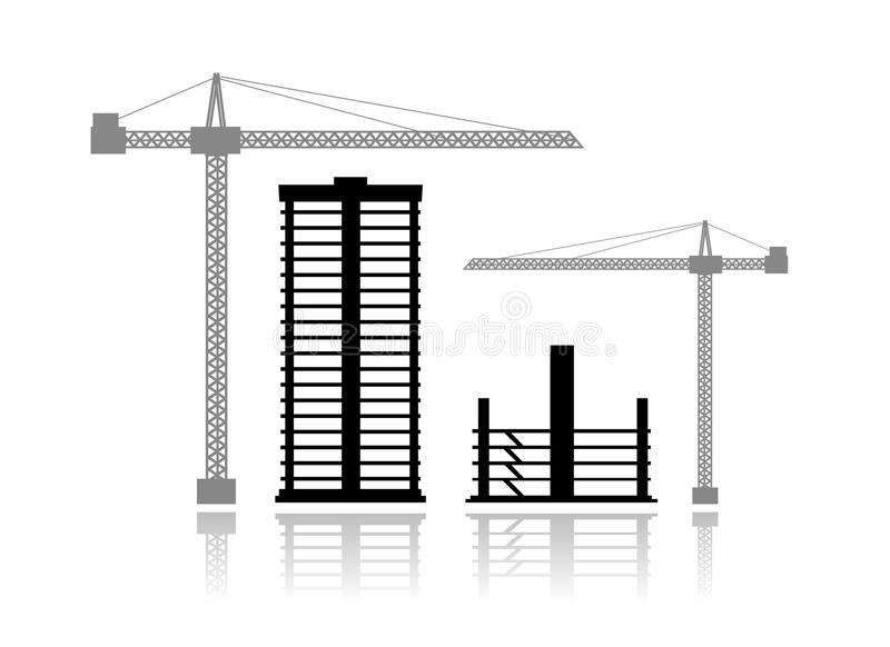 byggnadskonstruktion under royaltyfri illustrationer
