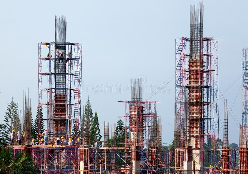 Byggnadskonstruktionsteknik royaltyfri foto