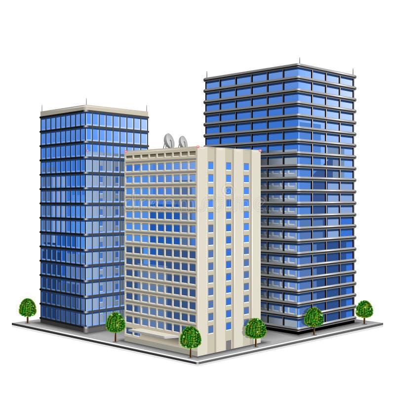 byggnadskontor stock illustrationer