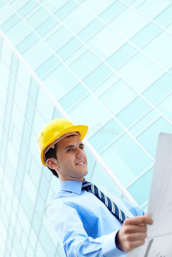 byggnadskontorsplan arkivfoton