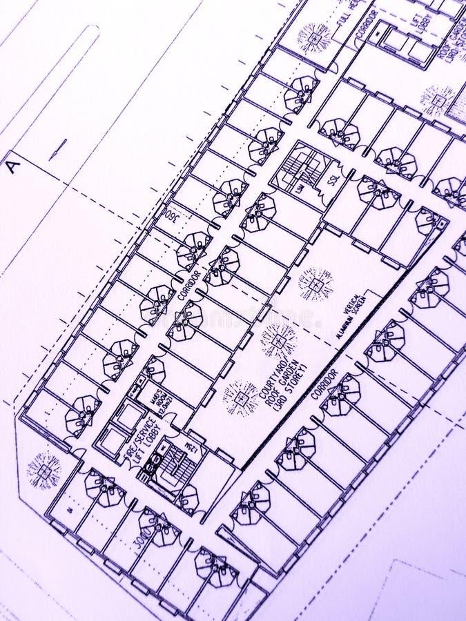 byggnadskontorsplan royaltyfria foton