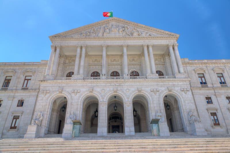 byggnadslisbon parlament portugal royaltyfri fotografi