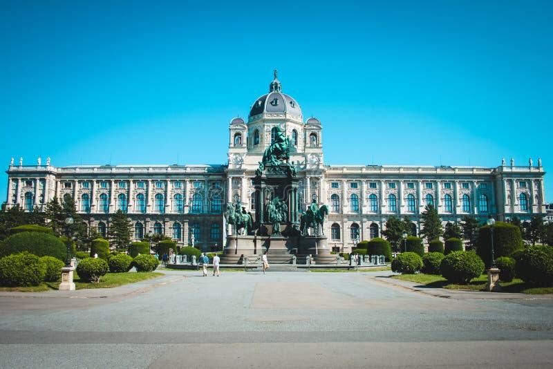 Byggnadsmuseum av konster i mitten Wien, Österrike fotografering för bildbyråer