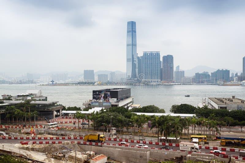 Byggnadsplats i Hong Kong fotografering för bildbyråer