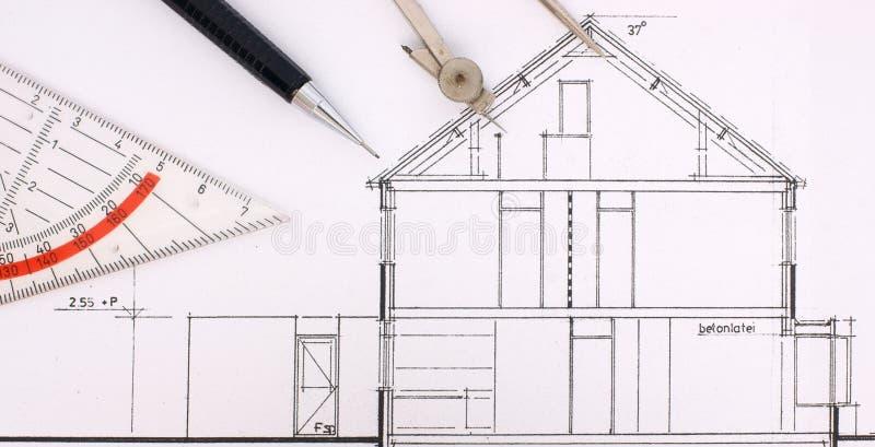 byggnadsritninghus arkivfoto