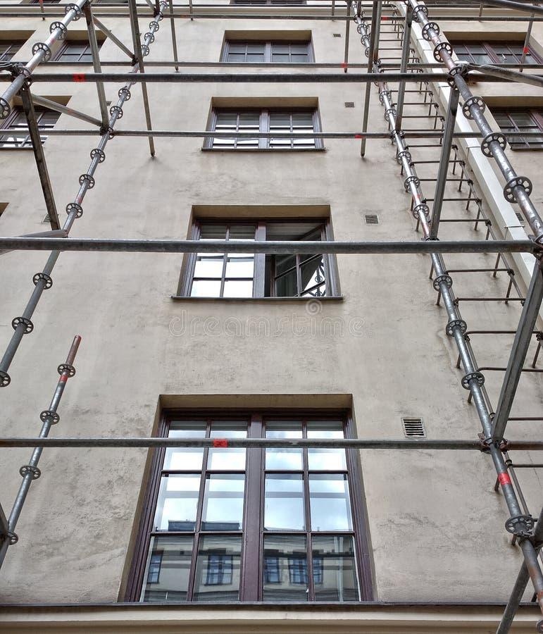 Byggnadsscaffold fotografering för bildbyråer