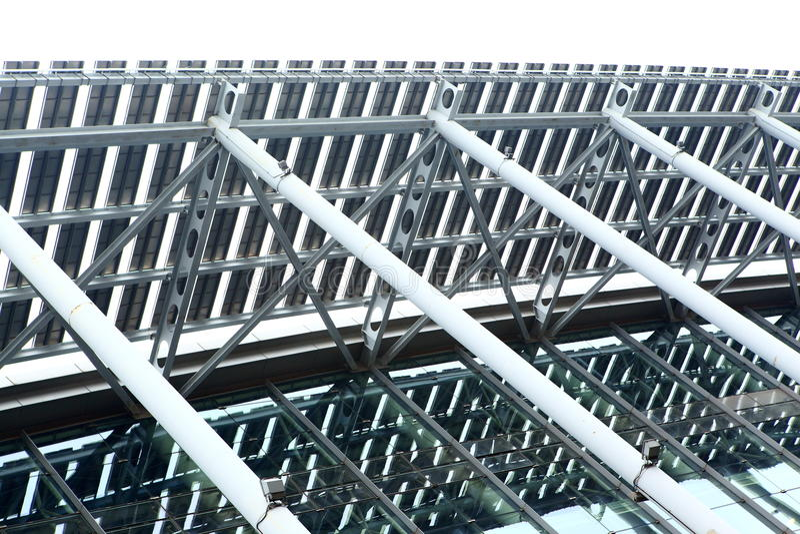 byggnadsstålstrukturer royaltyfri foto