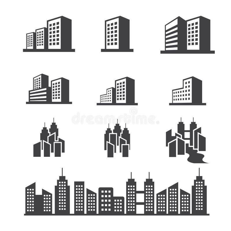 byggnadssymbol vektor illustrationer