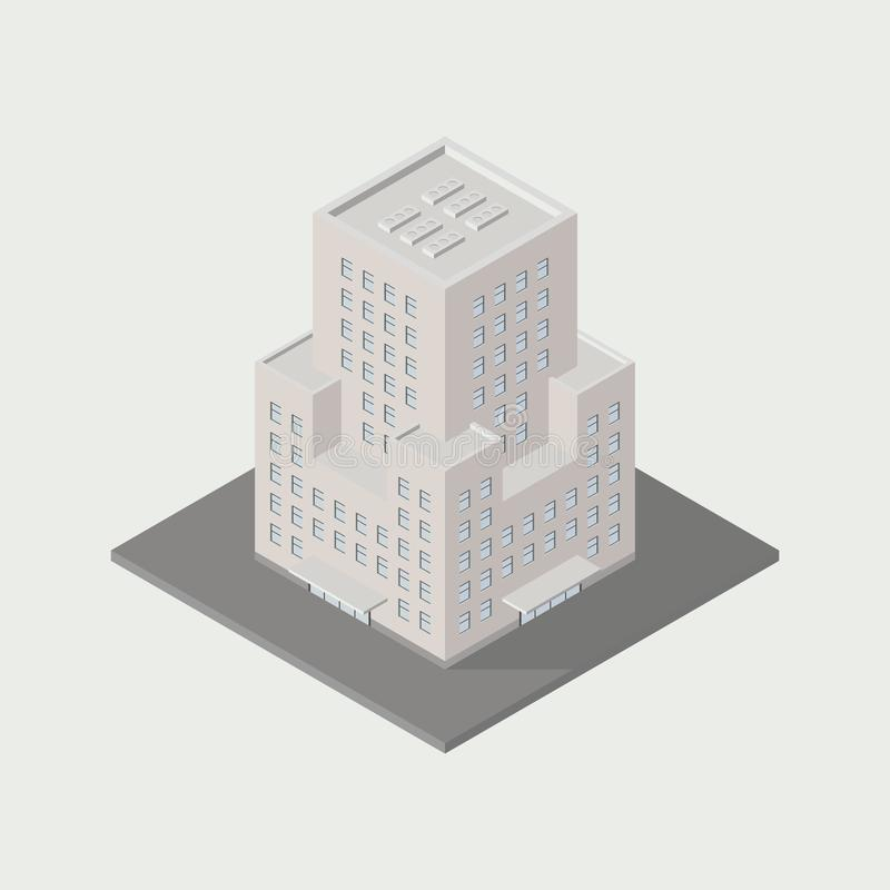 byggnadssymbol stock illustrationer