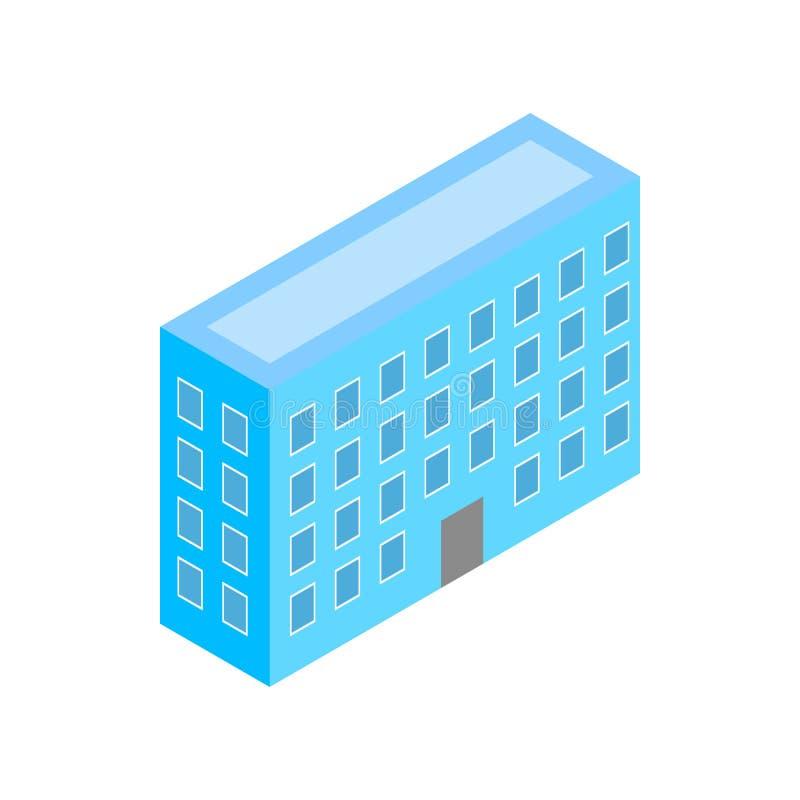 Byggnadssymbol, isometrisk stil 3d royaltyfri illustrationer