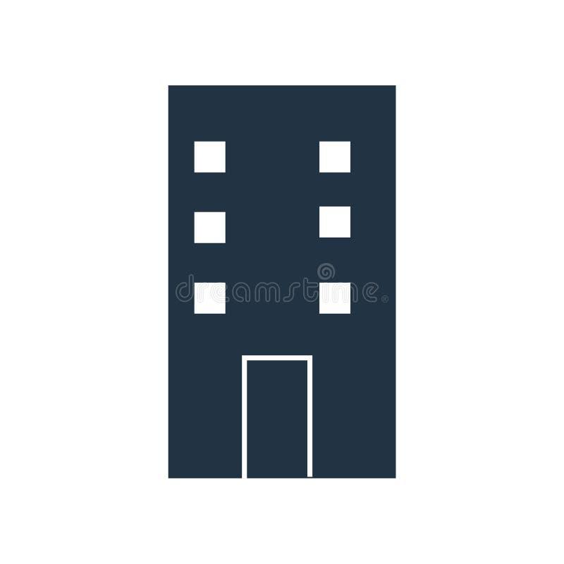 Byggnadssymbolsvektor som isoleras på vit bakgrund, byggnadstecken vektor illustrationer