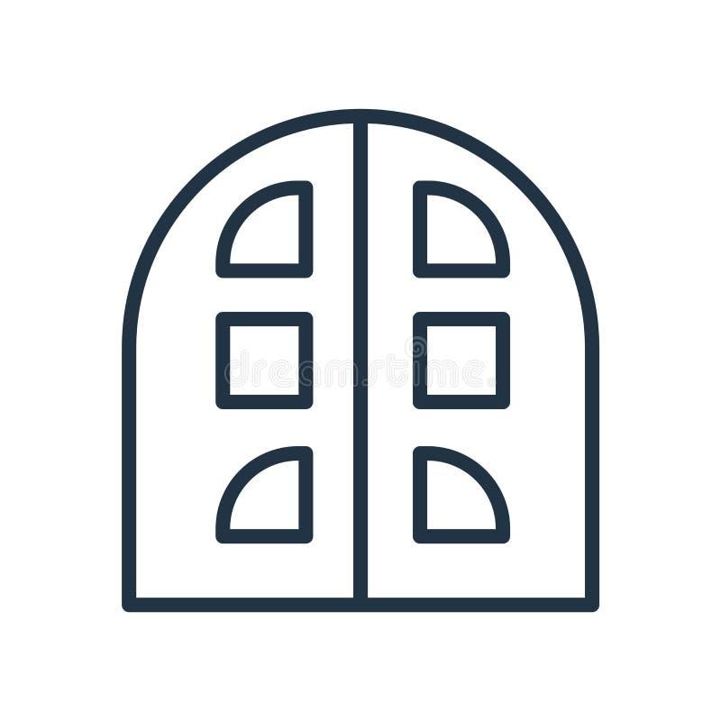 Byggnadssymbolsvektor som isoleras på vit bakgrund, byggnadstecken royaltyfri illustrationer
