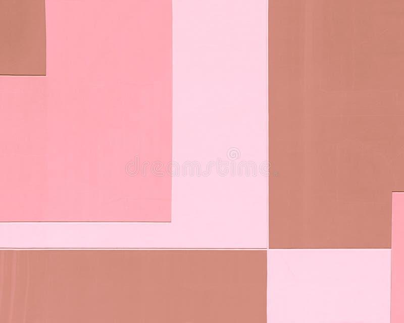 Byggnadsvägg i pastellfärgade färger, geometrisk abstrakt bakgrund, rektangulär form royaltyfri foto