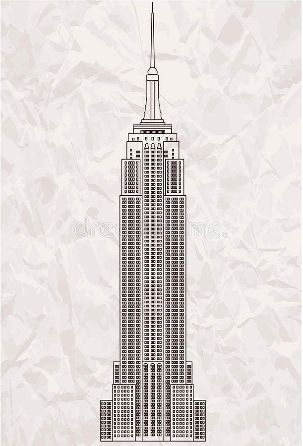 byggnadsväldemanhattan nytt tillstånd USA york vektor illustrationer