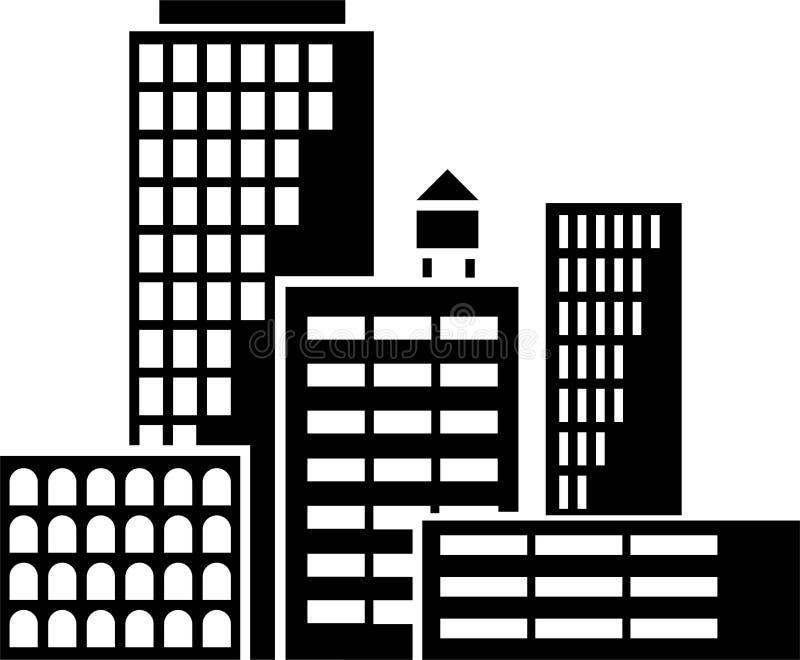 Byggnadsvektor vektor illustrationer