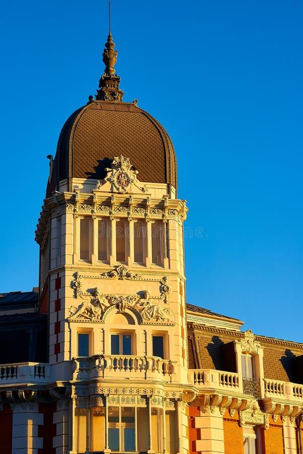 Byggnation av Royal Asturien Mining Company Madrid, Spanien royaltyfri foto